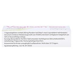 Vagisan sept Vaginalzäpfchen mit Povidon-Iod 5 Stück N1 - Oberseite