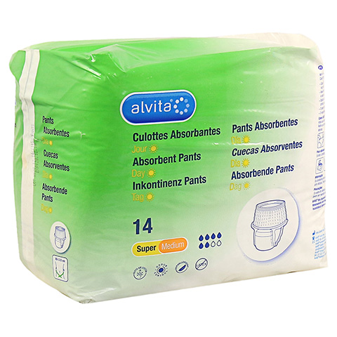 ALVITA Inkontinenz Pants super medium 14 Stück