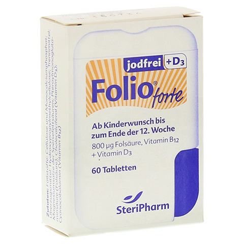FOLIO forte jodfrei+D3 Filmtabletten 60 Stück