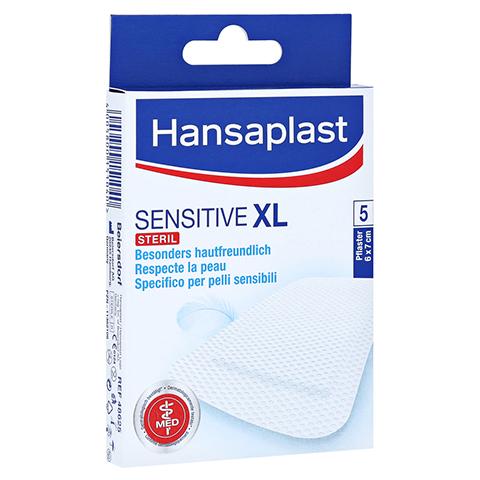 HANSAPLAST Sensitive XL Pflaster 6x7 cm 5 Stück