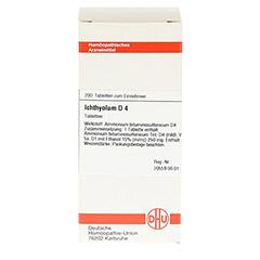 ICHTHYOLUM D 4 Tabletten 200 Stück N2 - Vorderseite