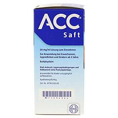 ACC Saft 20mg/ml 200 Milliliter N3 - Linke Seite