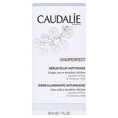 CAUDALIE Vinoperfect serum eclat anti taches + gratis Caudalie Vinoperfect Essenz 5 ml 30 Milliliter - Rückseite