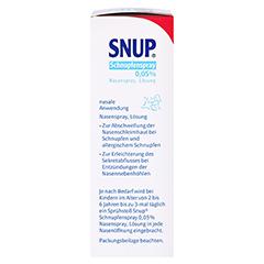 Snup Schnupfenspray 0,05% 10 Milliliter N1 - Rechte Seite