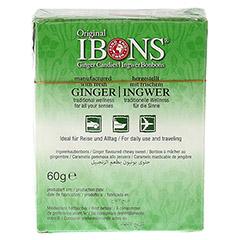 IBONS Classic Ingwerkaubonbons Orig.Schachtel 60 Gramm - Rückseite
