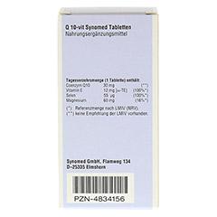 Q10 VIT Synomed Tabletten 30 Stück - Rückseite