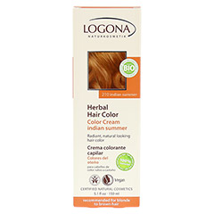 LOGONA Pflanzen-Haarfarbe Color Creme Indian Summer 150 Milliliter - Rückseite