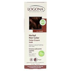 LOGONA Pflanzen-Haarfarbe Color Creme Teak 150 Milliliter - Rückseite