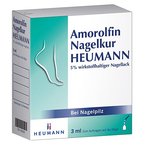 Amorolfin Nagelkur Heumann 5% wirkstoffhaltiger Nagellack 3 Milliliter N1