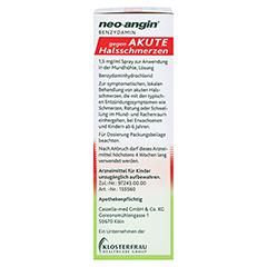 NEO-ANGIN Benzydamin akute Halsschmerzen Spray 30 Milliliter - Rechte Seite