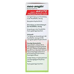 NEO-ANGIN Benzydamin akute Halsschmerzen Spray 30 Milliliter - Linke Seite