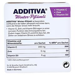 ADDITIVA Winter-Pflümli Pulver 100 Gramm - Rückseite