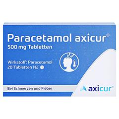 Paracetamol axicur 500mg 20 Stück N2 - Vorderseite