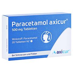 Paracetamol axicur 500mg 20 Stück N2