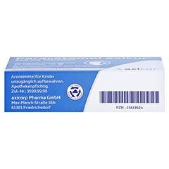 Paracetamol axicur 500mg 20 Stück N2 - Unterseite