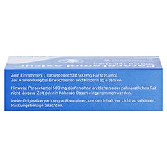 Paracetamol axicur 500mg 20 Stück N2 - Oberseite