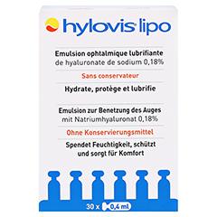 HYLOVIS lipo Augentropfen Einzeldosispipetten 30x0.4 Milliliter - Vorderseite