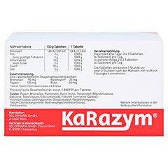 Karazym Magensaftresistente Tabletten 200 Stück - Rückseite