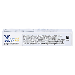 Xyzal 20 Stück N1 - Oberseite