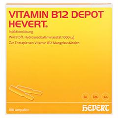 VITAMIN B12 DEPOT Hevert Ampullen 100 Stück - Vorderseite