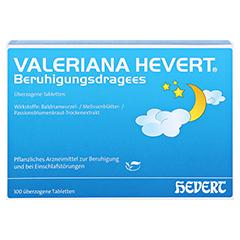 Valeriana Hevert Beruhigungsdragees 100 Stück - Vorderseite