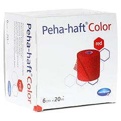 Peha-haft Color Fixierbinde latexfrei 6 cmx20 m rot 1 Stück