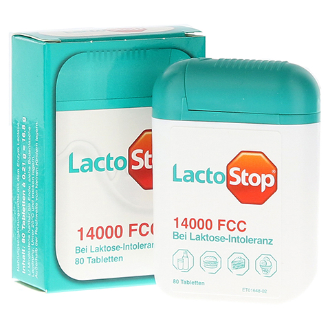 Lactostop 14.000 FCC Tabletten im Spender 80 Stück
