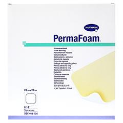 PERMAFOAM Schaumverband 20x20 cm 3 Stück - Vorderseite