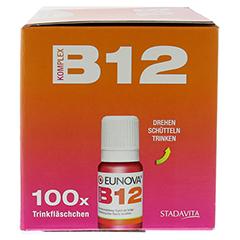EUNOVA B12 Komplex Trinkfläschchen 100x10 Milliliter - Rechte Seite