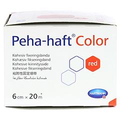 Peha-haft Color Fixierbinde latexfrei 6 cmx20 m rot 1 Stück - Rechte Seite