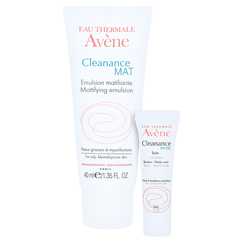 Avène Cleanance MAT mattierende Emulsion + gratis Avène Cleanance emulsion 5 ml 40 Milliliter