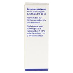 HYPERICUM RH D 3 Dilution 20 Milliliter N1 - Rückseite