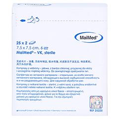 VLIESKOMPRESSEN 7,5x7,5 cm steril 6fach 25x2 Stück - Rückseite