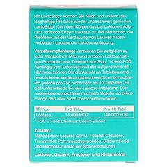 Lactostop 14.000 FCC Tabletten im Spender 80 Stück - Rückseite