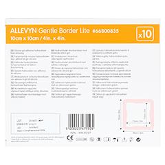 ALLEVYN Gentle Border Lite 10x10 cm Schaumverb. 10 Stück - Rückseite