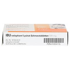 IBU-ratiopharm Lysinat Schmerztabletten 500mg 20 Stück - Unterseite