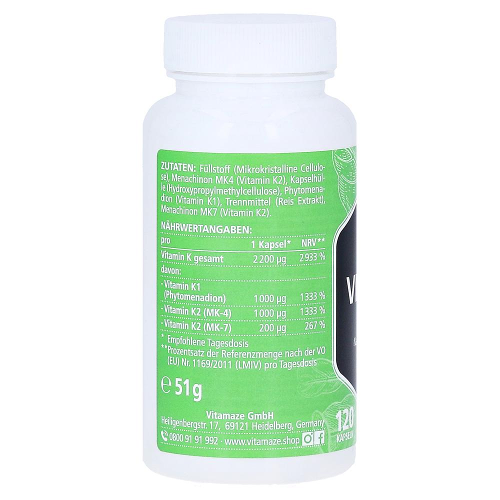 Komplex mk7 k + mk4 + vitamina k1 kapseln k2