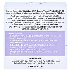 FREI ÖL Hydrolipid TagesPflege Protect LSF 20 Cr. 50 Milliliter - Rückseite