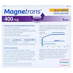 MAGNETRANS duo-aktiv 400 mg Sticks 20 Stück - Rückseite