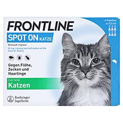 FRONTLINE Spot on K Lösung für Katzen 6 Stück - Vorderseite