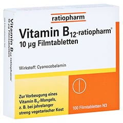 Vitamin B12 ratiopharm 10 µg Filmtabletten 100 Stück N3