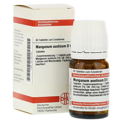 MANGANUM ACETICUM D 6 Tabletten 80 Stück N1