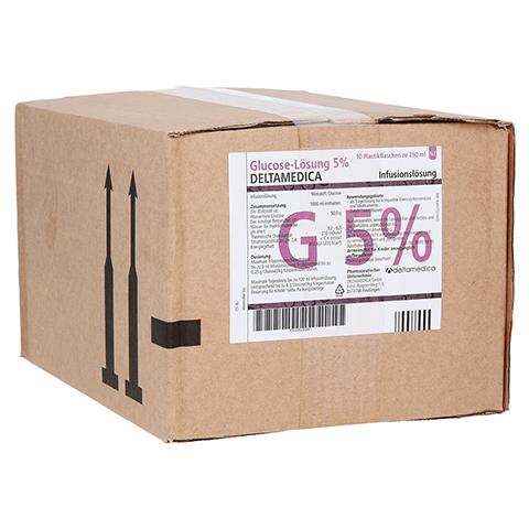GLUCOSE 5% DELTAMEDICA Infusionslösung Plastikfl. 10x250 Milliliter N2