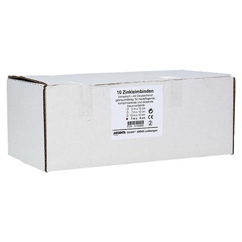 ZINKLEIMBINDE 8 cmx7 m 10 Stück