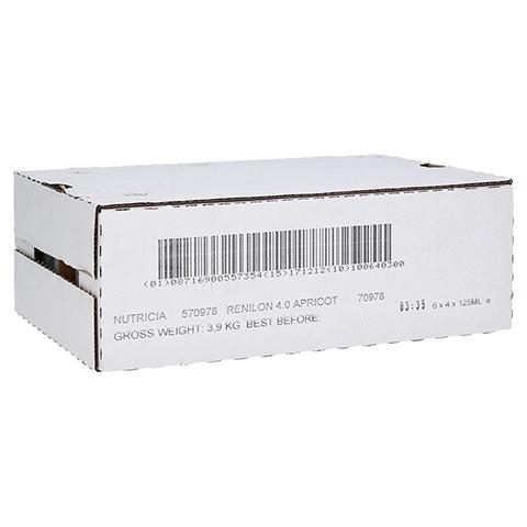 RENILON 4.0 Aprikosengeschmack flüssig 6x4x125 Milliliter