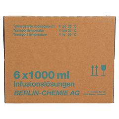 ISOTONISCHE NaCl BC 9 mg/ml 0,9% Inf.-Lsg.Glasfl. 6x1000 Milliliter - Vorderseite