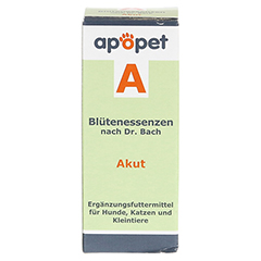 APOPET A Akut Blüteness.n.Dr.Bach Glob.vet. 12 Gramm - Vorderseite