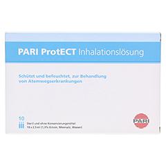 PARI ProtECT Inhalationslösung mit Ectoin Ampullen 10x2.5 Milliliter - Vorderseite