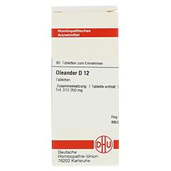 OLEANDER D 12 Tabletten 80 Stück N1 - Vorderseite