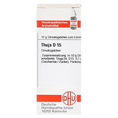 THUJA D 15 Globuli 10 Gramm N1 - Vorderseite